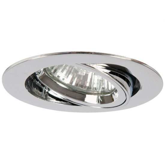 GU10 Twist & Lock Tiltable Downlight Spotlight Polished Chrome Finish