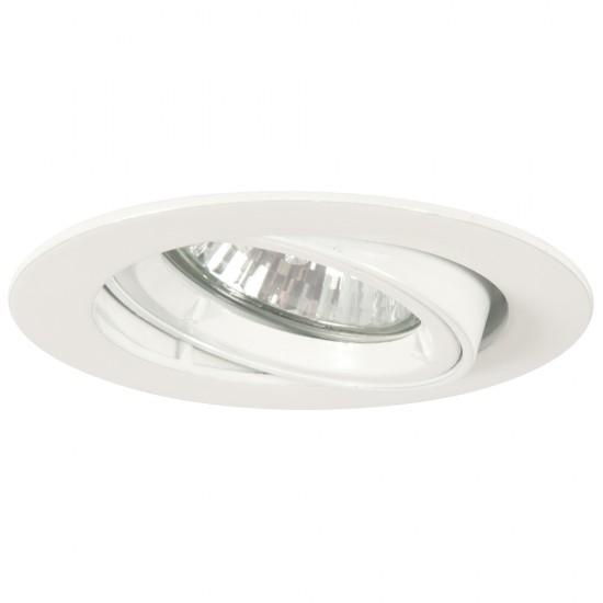 GU10 Twist & Lock Tiltable Downlight Spotlight White Finish