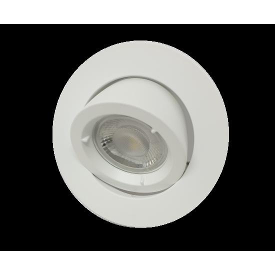 Large Scoop GU10 Ceiling Recessed Tilt Downlight Spotlight White