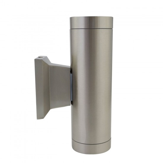 Stylish Up Down Wall Light Outdoor/Indoor Stainless Steel Finish IP54