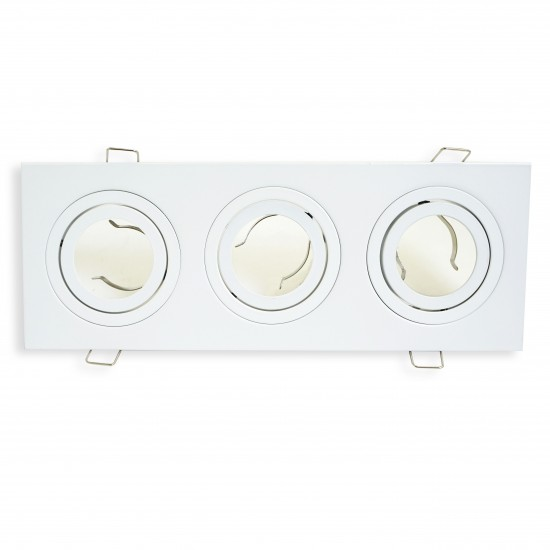 UKEW GU10 Ceiling Retail Commercial Triple Spotlights Tilt Downlight