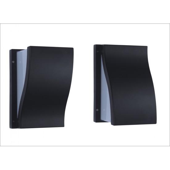 Up or Down Designer Bulkhead Wall Light Black IP54
