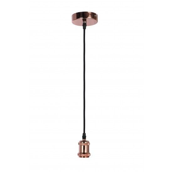 Vintage Retro Ceiling Pendant Lampholder 1.2M Adjustable Cable - Copper