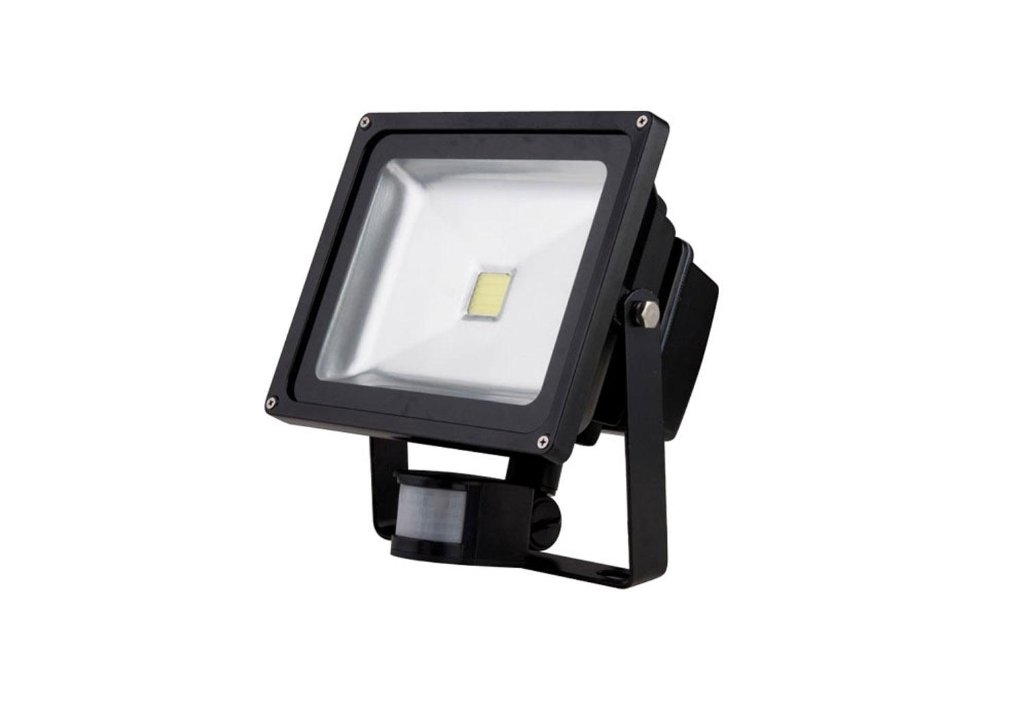 50W LED FLOODLIGHT WITH PIR SENSOR COOL WHITE 6000K LIGHT OUTPUT IP65  (UKE 50WLEDFLOOD PIR) By Www.ukew.co.uk