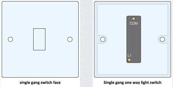 Single Gang 1 Way Light Switch