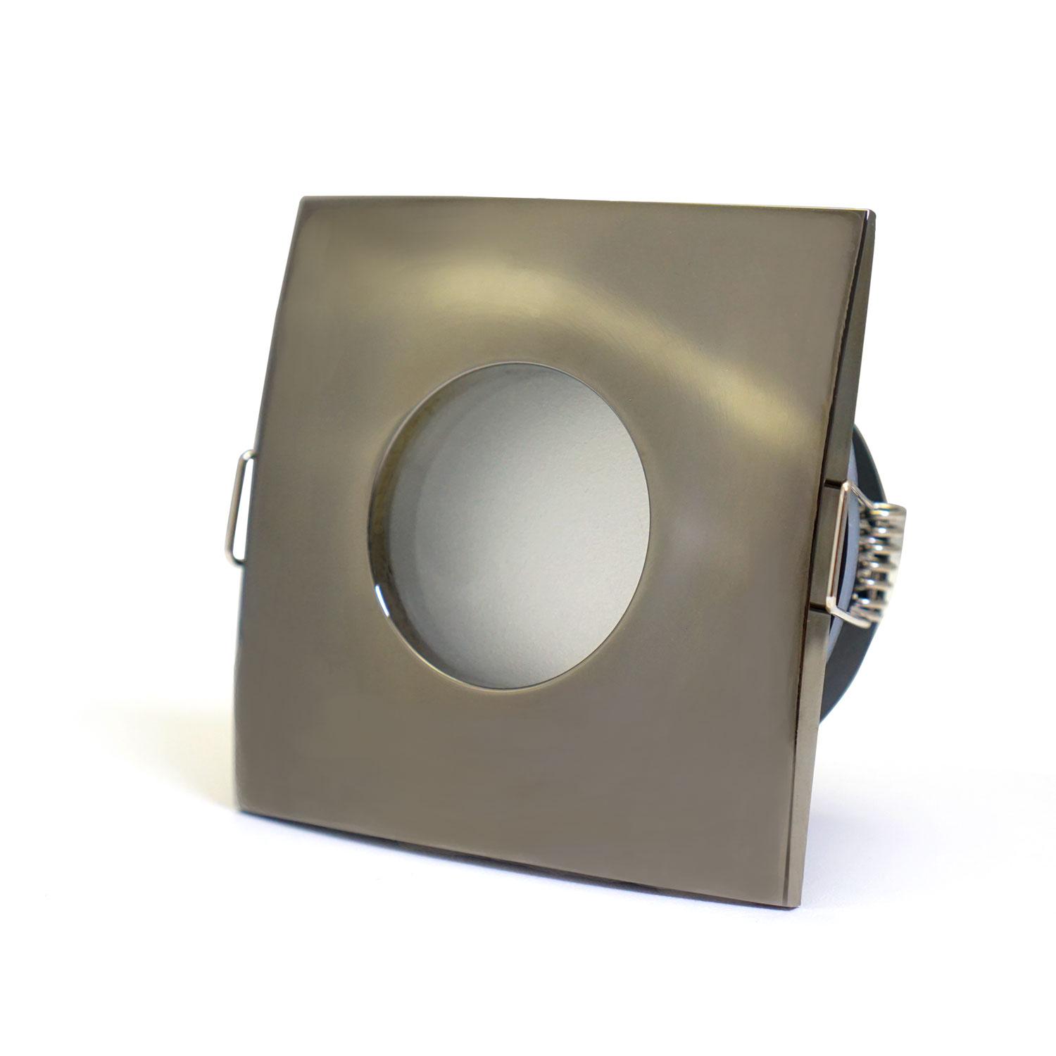 the latest ea311 70ebd Bathroom Square Downlight IP44 Waterproof Rated Spotlight GU10 Black Chrome  (008A16-BC) by www.ukew.co.uk